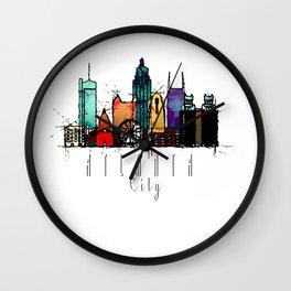 Atlanta, GA Watercolor Wall Clock