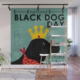 Black Dog Day Royal Crown Wall Mural