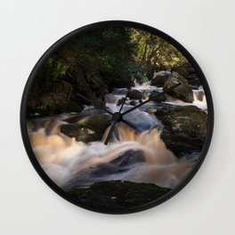 River flowing through forest Wall Clock