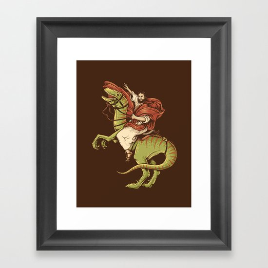 Raptored Framed Art Print