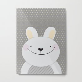 Cute Rabbit Metal Print