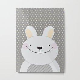 Cute Rabbit Metal Print