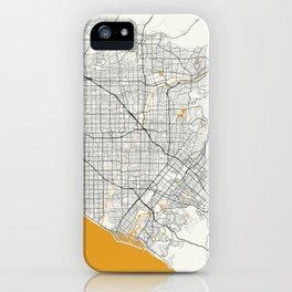 Orange County map iPhone Case