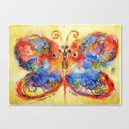 Astrazioni su ali di farfalla Canvas Print