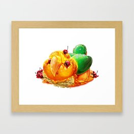 Caique Cake Framed Art Print
