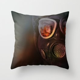 Fire in the eyes Throw Pillow