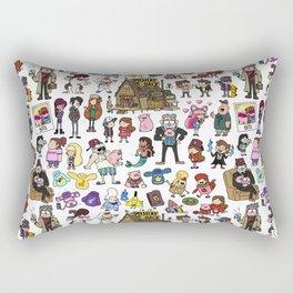 Cute Gravity Falls Doodle Rectangular Pillow