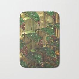 Chocolate leaf fall Bath Mat