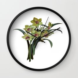 Lent Lily Isolated Wall Clock