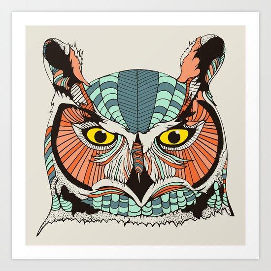 OWLBERT Art Print
