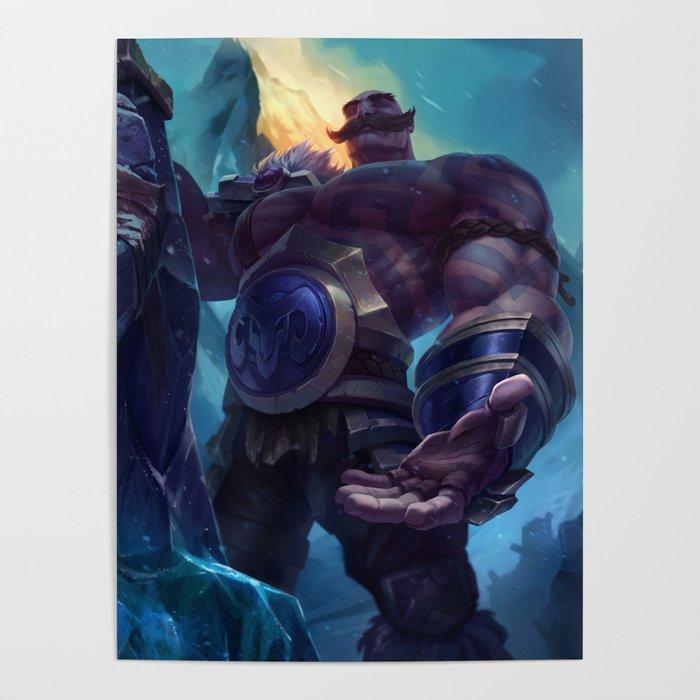 Classic Braum League Of Legends Poster By Amumus