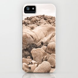 California Joshua Tree National Park Rock Formations iPhone Case