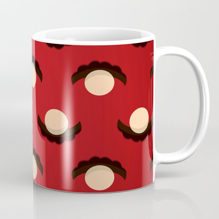 red mustache coffee mug by brunothethe society6