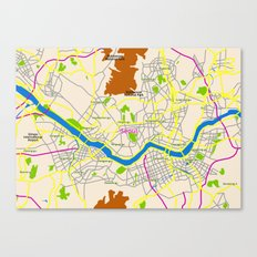 Seoul map Design Canvas Print