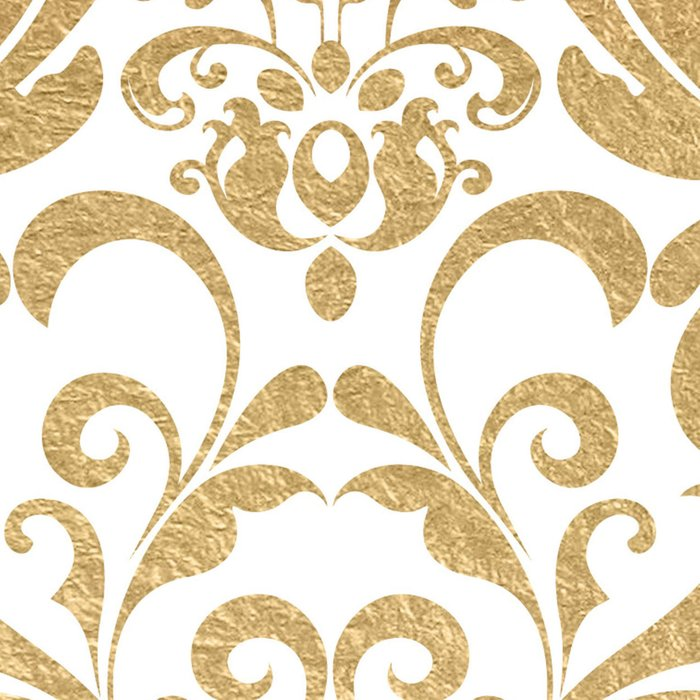 Gold swirls damask #2 Leggings