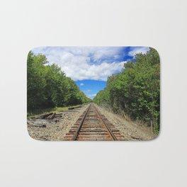 Beautiful Day Train Tracks Bath Mat