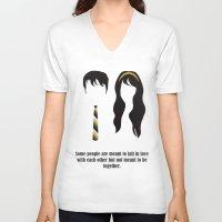 500 days of summer V-neck T-shirts featuring 500 days of Summer by Lucas de Souza