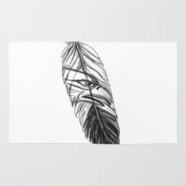 Sea Eagle Feather Tattoo Rug