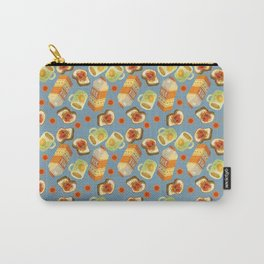Coffee and Toast (Blueberry Jam Blue) Carry-All Pouch