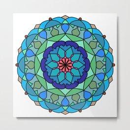 Beautiful decorative mandala Metal Print