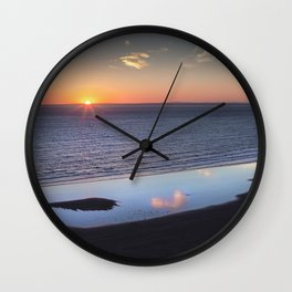 Rhossili Summer Solstice sunset 2018 Wall Clock