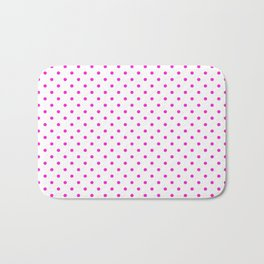 Dots (Hot Magenta/White) Bath Mat