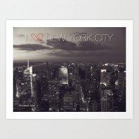 I HEART NEW YORK CITY Art Print