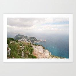 Cliff Views in Capri Art Print