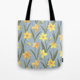 Spring Daffodils Floral Pattern Tote Bag