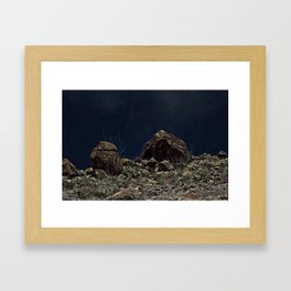 Big Bend Speed Bumps Framed Art Print
