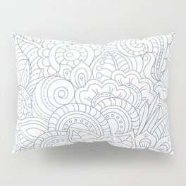 Background Zentangle (doodle) flowers Pillow Sham