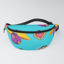 Angels and Hearts Turquoise Fanny Pack