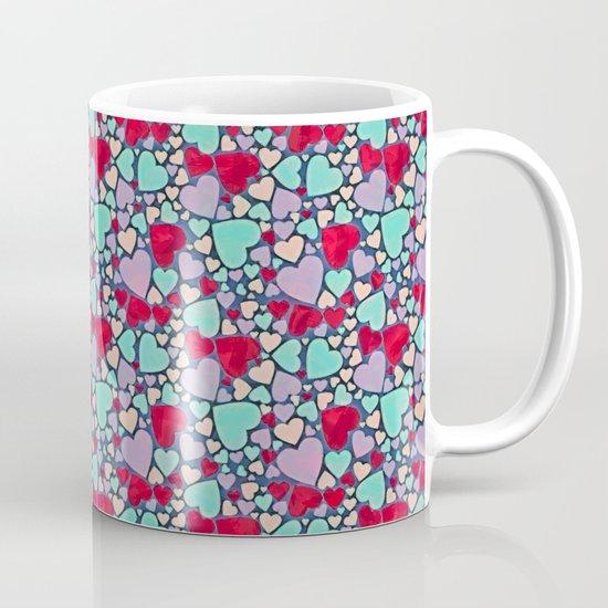 Sweet hearts mosaic pattern Coffee Mug