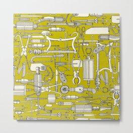 fiendish incisions chartreuse Metal Print