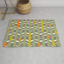 TRIBAL CHEVRON | grey olive Rug