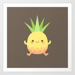 Happy pineapple kids Art Print