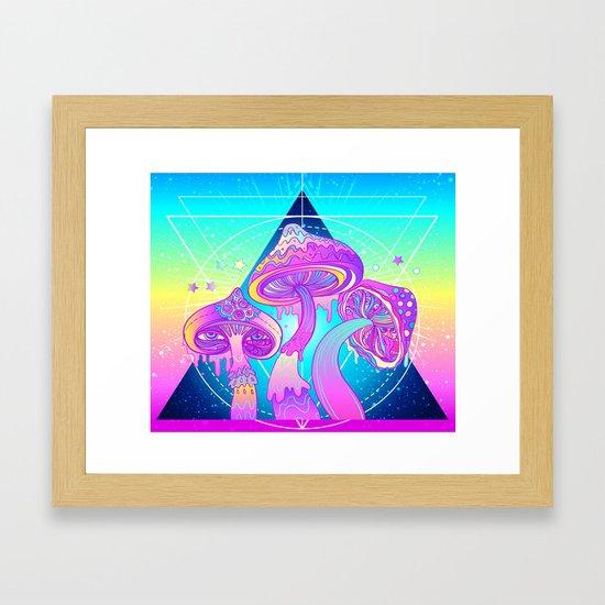 Magic Mushrooms over Sacred Geometry by christineiris