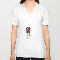 motivation V-neck T-shirts featuring Motivation by The Littlest Boot