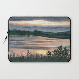 Summer Sunset at Baker Wetlands Painting Laptop Sleeve