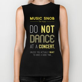Dancing at a Concert — Music Snob Tip #323 Biker Tank