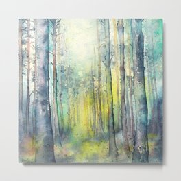 Light from above - forest painting Metal Print