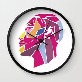 Modern Abstract with Structure Head - Face Wall Clock