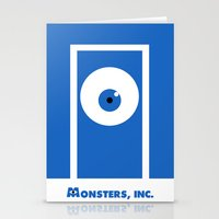 monsters inc Stationery Cards featuring Monsters, inc. by Citron Vert