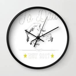 Promoted to Dad TShirt New Father To Be Expecting Pop Retro Wall Clock