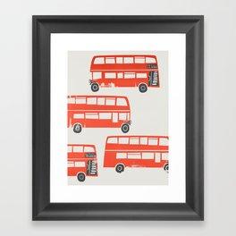 London Double Decker Red Bus Framed Art Print