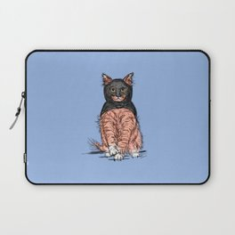 Periwinkle Pink Bat Cat Laptop Sleeve