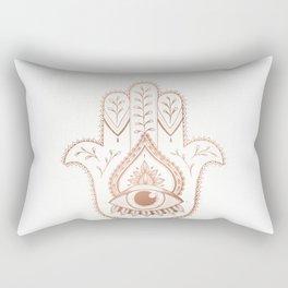 Hamsa Hand - Rosé Gold Rectangular Pillow