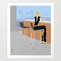 bar Art Prints featuring Bar by Aimee Liwag