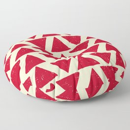tiga red parchment Floor Pillow
