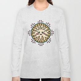 Hedgehog Paisley_Colors and White Long Sleeve T-shirt